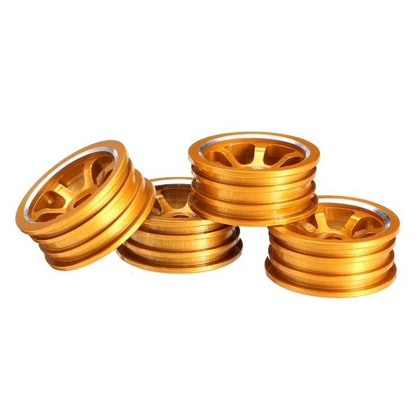 1/28 Upgraded Metal Rims 4PCS For WLtoys K979 K989 Rally Buggy Off-road RC Cars