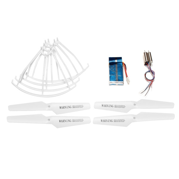 Syma X5 X5C RC Quadcopter Spare Parts White Propellers+Protector+Motor+600mAh Battery