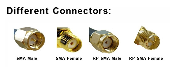 10PCS SMA Male to RP-SMA Male Adaptor RF Connector Straight for FPV Antenna