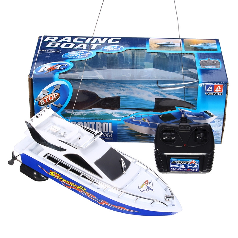 4CH Mini Radio Remote Control RC Electric High Speed Racing Boat Ship Kids Toy
