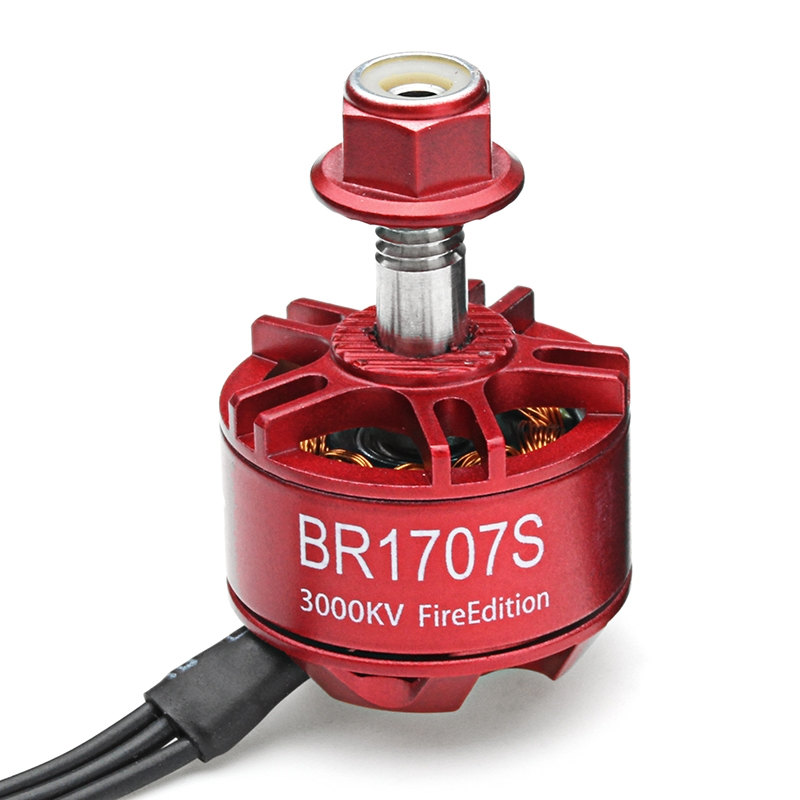 4X Racerstar 1707 BR1707S Fire Edition 3000KV 2-3S Brushless Motor For RC Drone FPV Racing Frame