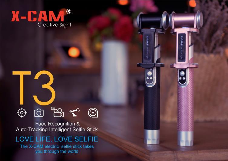 X-CAM T3 Face Recognition Auto-tracking Intelligent Handheld Gimbal Stabilizer for Mobile Phone