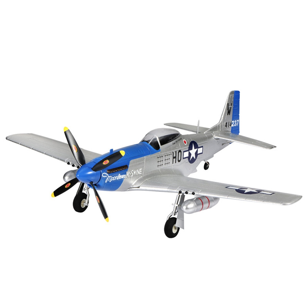 TOP RC 4 Channel Wingspan 750mm EPO Park Flyer P51 Mustang (768-1) KIT/PNP RC Airplane -Blue