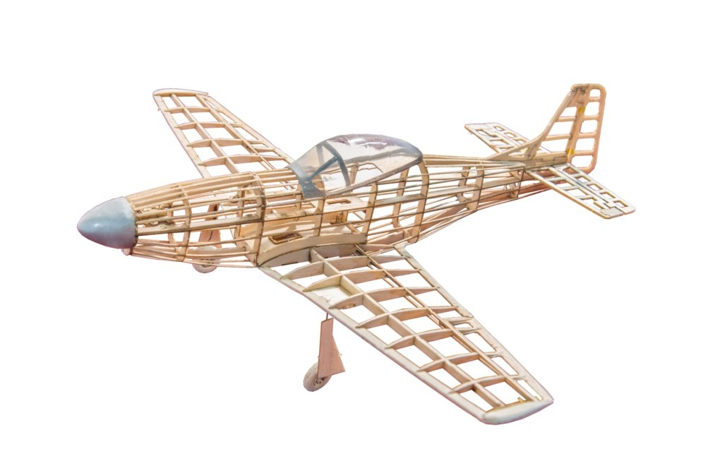 P51D Mustang 400mm Wingspan Balsa Wood Laser Cut RC Warbird Airplane KIT
