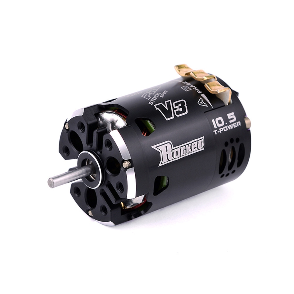 Rocket 540 V3 10.5T Sensored Brushless 7.2 Spec Competition RC Car Motor With Two Way Inductive