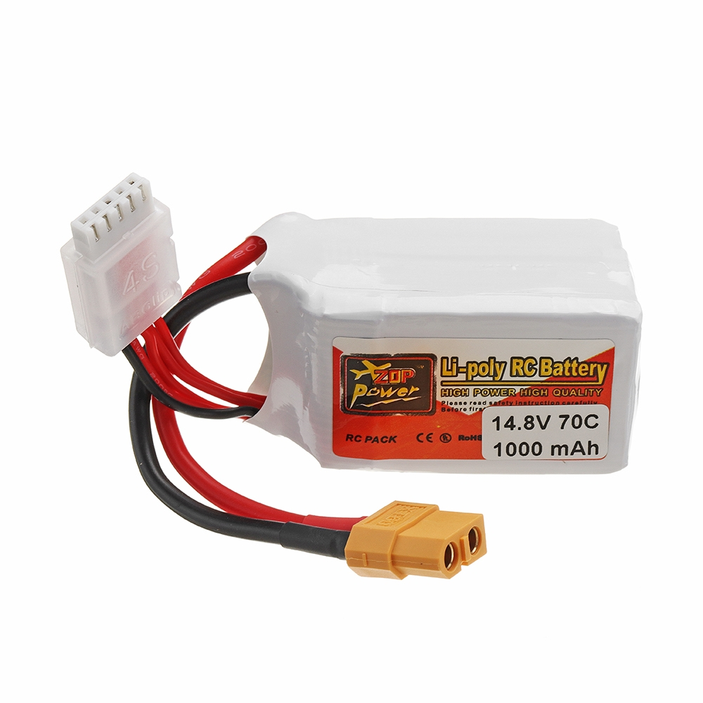 ZOP POWER 14.8V 1000mAh 70C 4S Lipo Battery With XT60 Plug For RC FPV Racing