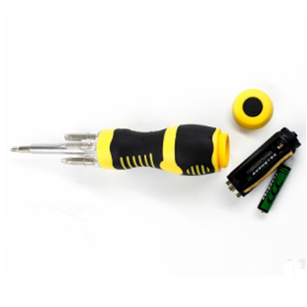 Multifunctional Screwdriver Set with LED Lighting Screwdriver
