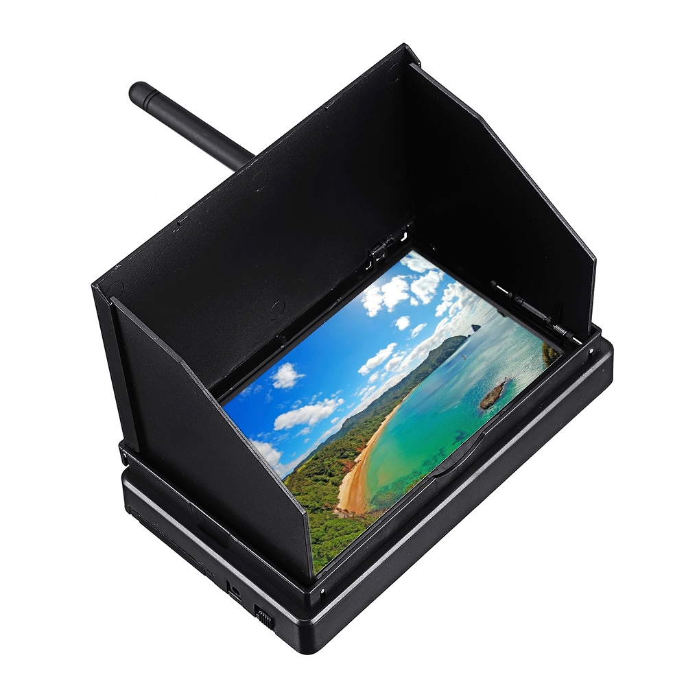 5.8G 48CH 4.3 Inch LCD 480x22 16:9 NTSC/PAL FPV Monitor Auto Search With OSD Build-in Battery