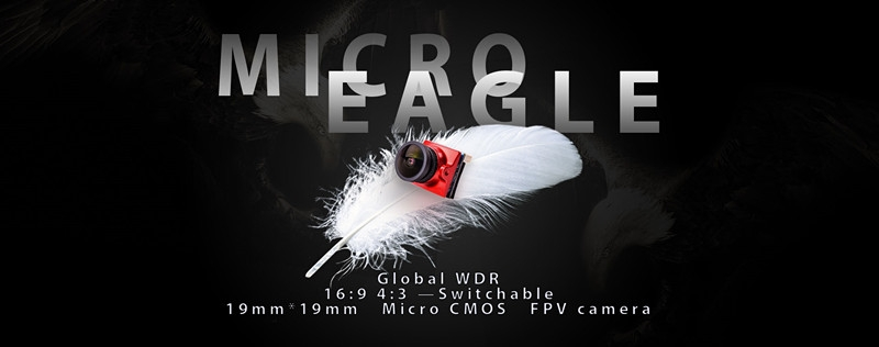 RunCam Micro Eagle 800TVL Global WDR 16:9/4:3 Switchable FPV Camera With DVR01 Mini FPV DVR Module