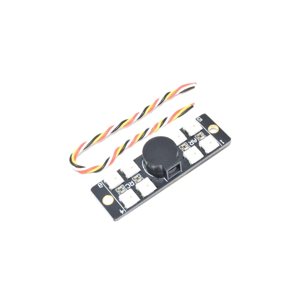 AURORA 110DB8LED Multirotor Tailight 110DB Buzzer WS2812 LED Board for F3 F4 F7 Flight Controller