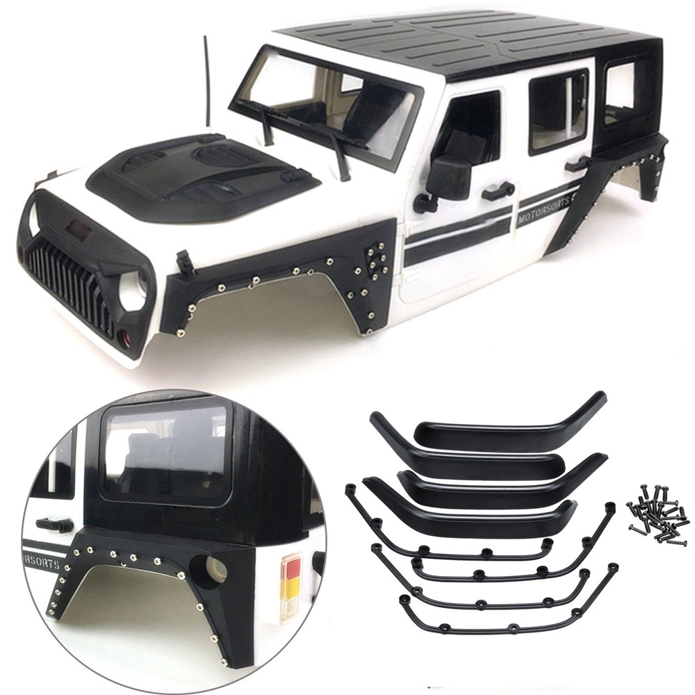 8PCS Xtra Speed ARMOR Fender Flare Set for Jeep Body 4WD RC Crawler Car Parts