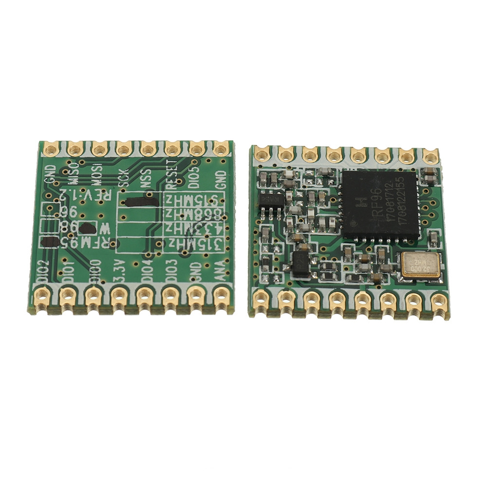 2pcs/lot RFM95 20dBm 100mW 868Mhz 915Mhz DSSS Spread Spectrum Wireless Transceiver Module