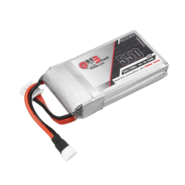 2PCS Gaoneng GNB 7.4V 550mAh 50C Lipo Battery With White Plug