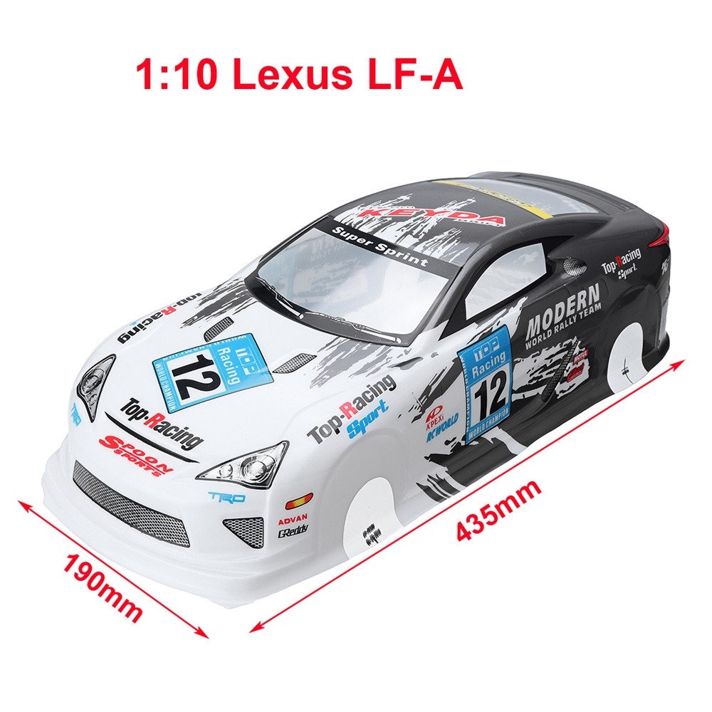 1/10 RC On-Road Drift Car Body Painted PVC Shell for Lexu s LF-A Vehicle