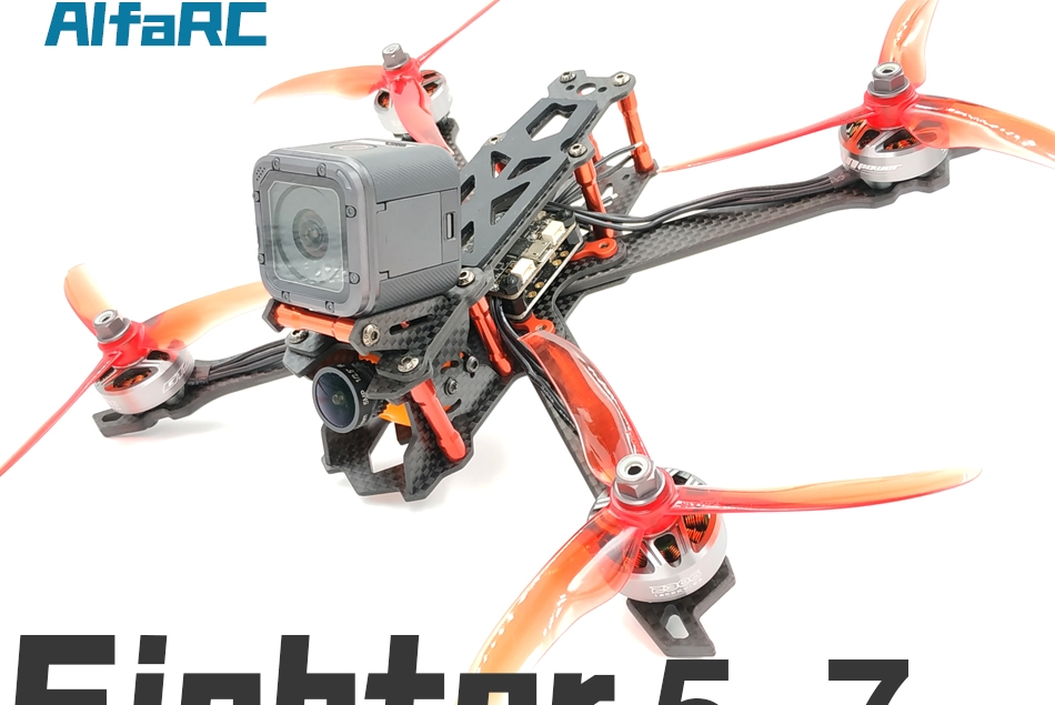 AlfaRC Fighter 230mm 260mm 290nn 5/6/7 Inch Carbon Fiber FPV Freestyle Stretch X Frame kit for RC Drone