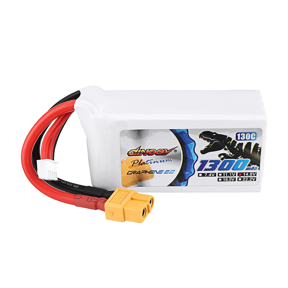 DINOGY ULTRA GRAPHENE 2.0 14.8V 1300mAh 130C 4S Lipo Battery XT60 Plug for FPV RC Drone