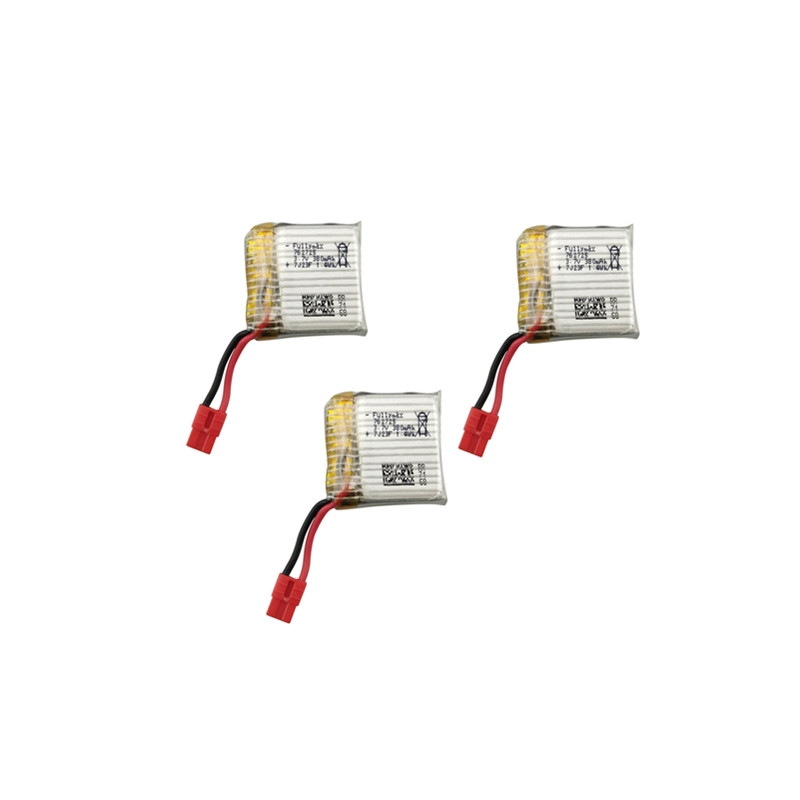 3PCS 3.7V 380mah Lithium Battery for SYMA X21 X21W RC Drone Quadcopter
