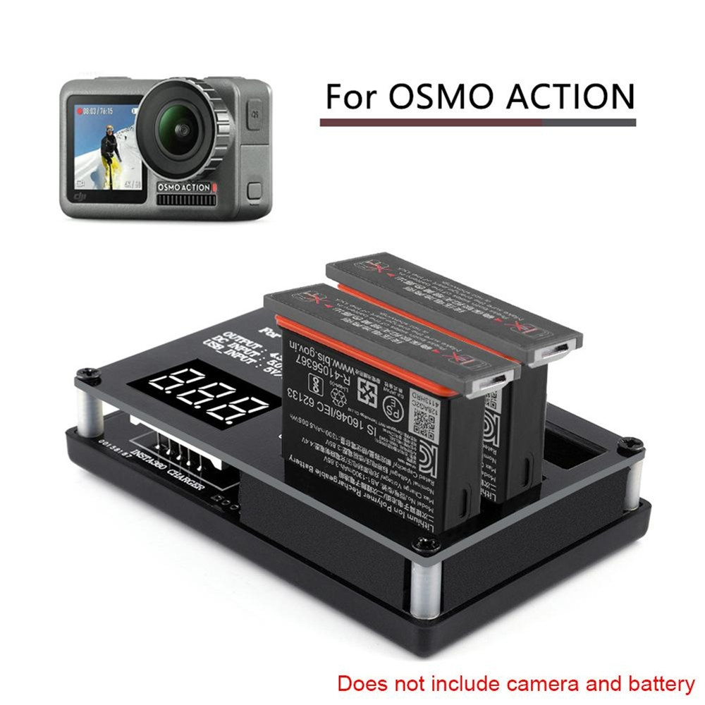 1 For 3 Rechargeable Lithium Lipo Battery Charger With Adapter for DJI OSMO Sport Action Camera