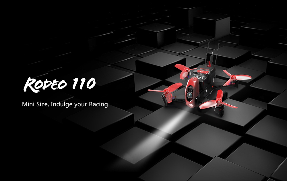 Walkera Rodeo 110 110mm FPV Racing Drone w/ 600TVL HD Camera 5.8GHz 40CH Transmission BNF RTF