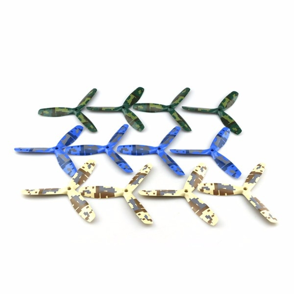 12PCS JJPRO-5050 3-Blade ABS CW/CCW Propeller Blue/Green/Yellow for FPV Racing