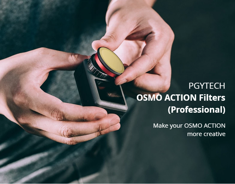 PGYTECH OSMO ACTION UV Filter Lens Glass Professional Accessories P-11B-011 For DJI Sport Camera