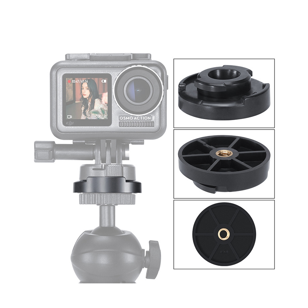 ULANZI U-12 Camera Accessories Vertical Base Holder 1/4 Install Mount Fixed Mount for DJI Osmo Action FPV Camera