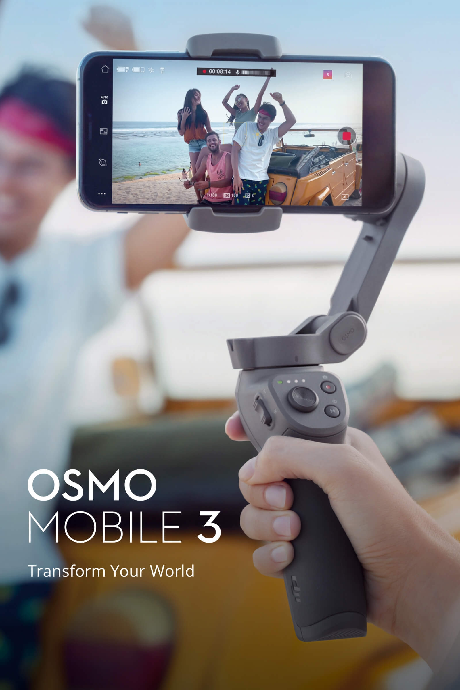 DJI Osmo Mobile 3 Foldable Active Track 3.0 Handheld Gimbal Portable Stabilizer Gesture Control Vlog Story Mode for Smartphones