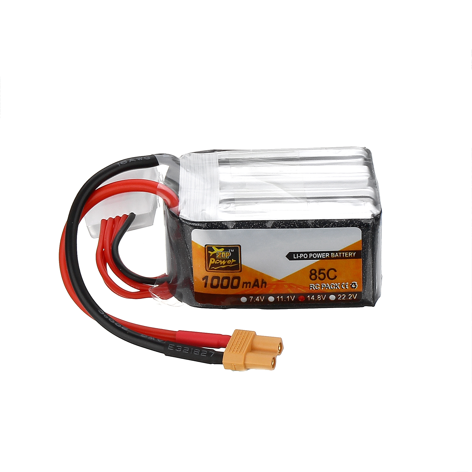 ZOP Power 14.8V 1000mAh 85C 4S Lipo Battery for FPV RC Drone