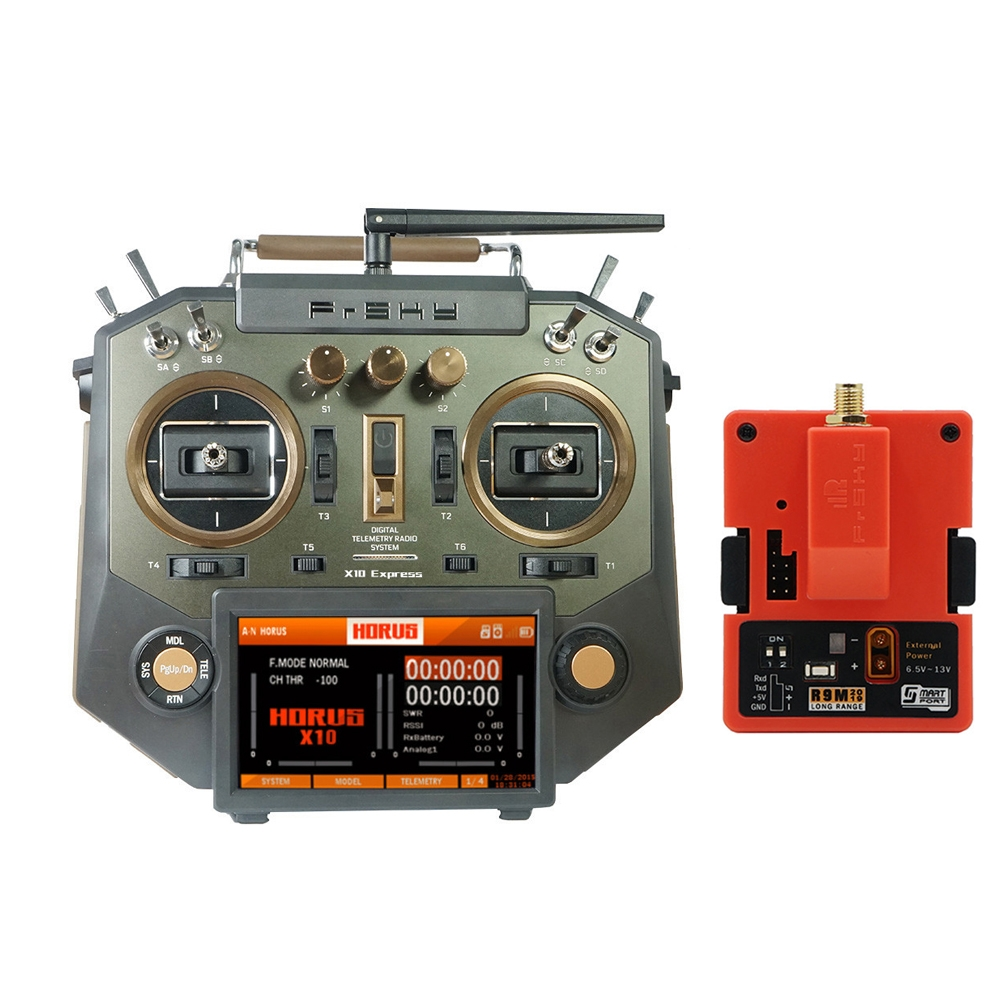 FrSky HORUS X10 Express 24CH ACCESS ACCST D16 Mode2 Transmitter with R9M 2019 900MHz Long Range Transmitter Moudle
