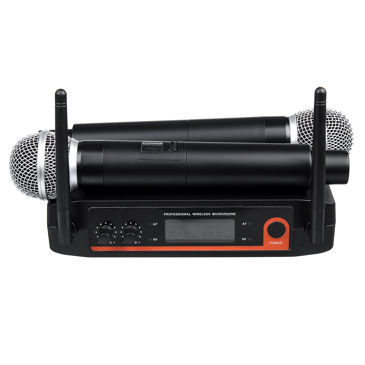 XYZ.SOUND A-555 Dynamic Coil Wireless Handheld Microphone System for Kraoke Speech Party