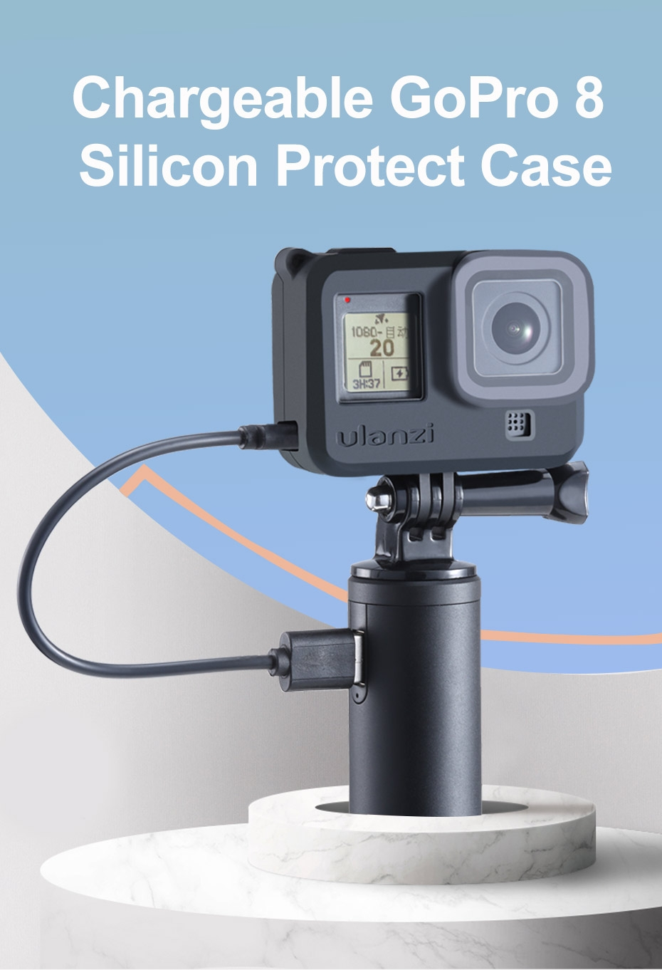 Ulanzi G8-3 Silicone Cage Protective Case With Lens Cap for GoPro Hero 8 FPV Camera