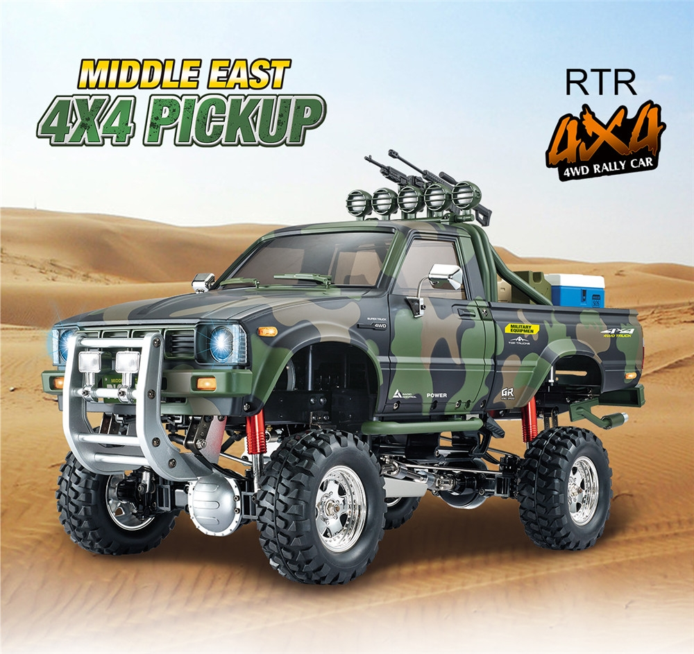 HG P417 1/10 2.4G 4WD RC Car EP Pickup Vehicles Rock Crawler Truck without Battery Charger Model