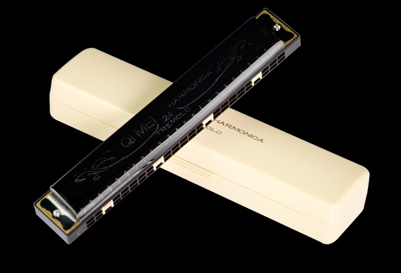 QIMEI QM24 24 Holes Polyphony C Tune Harmonica Mouth Organ Musical Instrument