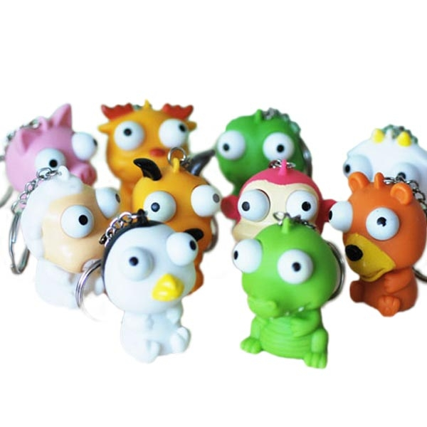 5PCS Squeeze Spoof Toy Stress Reliever Toy With Key Chain Random Color