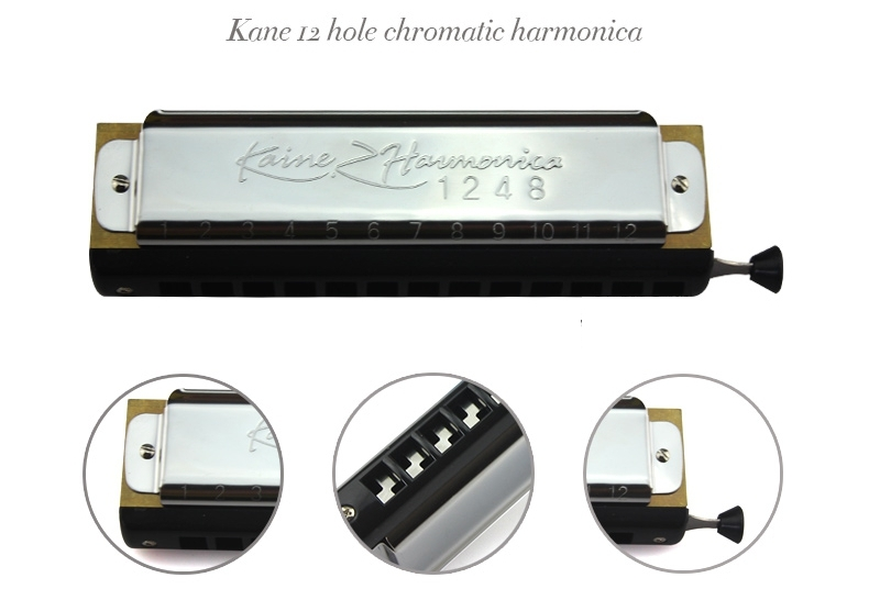 Kaine.Z 12 Holes 48 Tones C Key Chromatic Harmonica for Beginners KZ1248