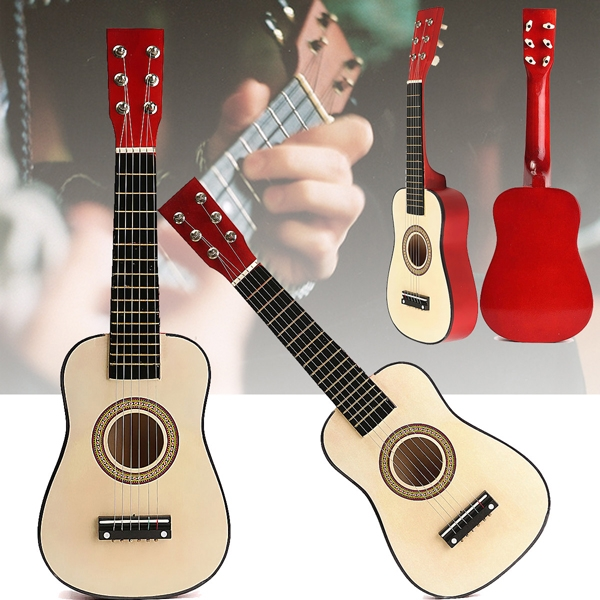 Red 23 Beginners Practice Acoustic Guitar w/ 6 String For Children Kids""