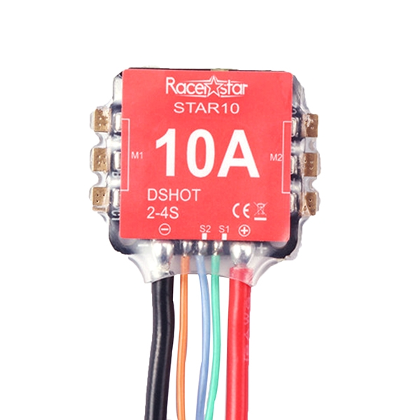 16x16mm Racerstar Star10 Blheli_S BB2 10A 2-3S 2 In 1 ESC Dshot600 Ready for Mini Racing Drone
