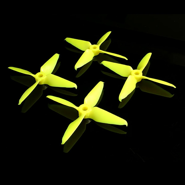 2 Pairs Furiousfpv RageProp 3054-4 3x5.4x4 Race Edition 4-blade Propeller CW CCW Yellow