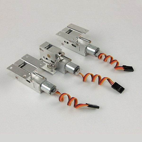 Full Metal Servoless Retracts w/Steerable Nose Assembly 3mm/4mm Pin