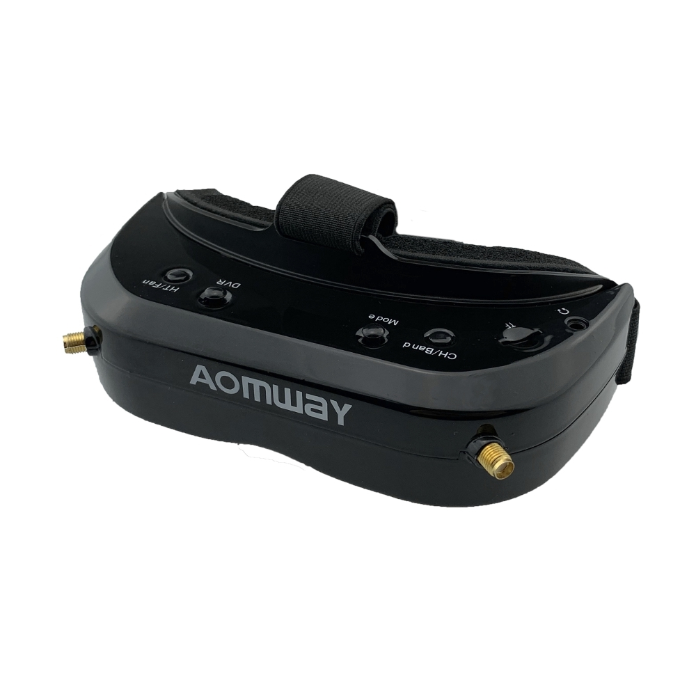 AOMWAY Commander V1S FPV Goggles 854x480 5.8Ghz 64CH Diversity RF 2D/3D HDMI Built-in DVR Fan Support Head Tracking For RC Racing Drone
