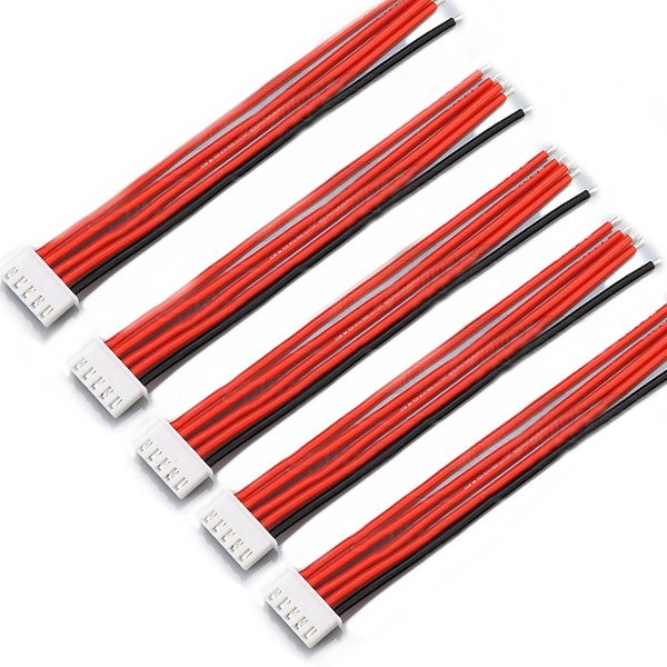 5PCS 4S 5Pin 2.54XH 30cm Lipo Battery Charger Silicone Wire Balance Extension Cable
