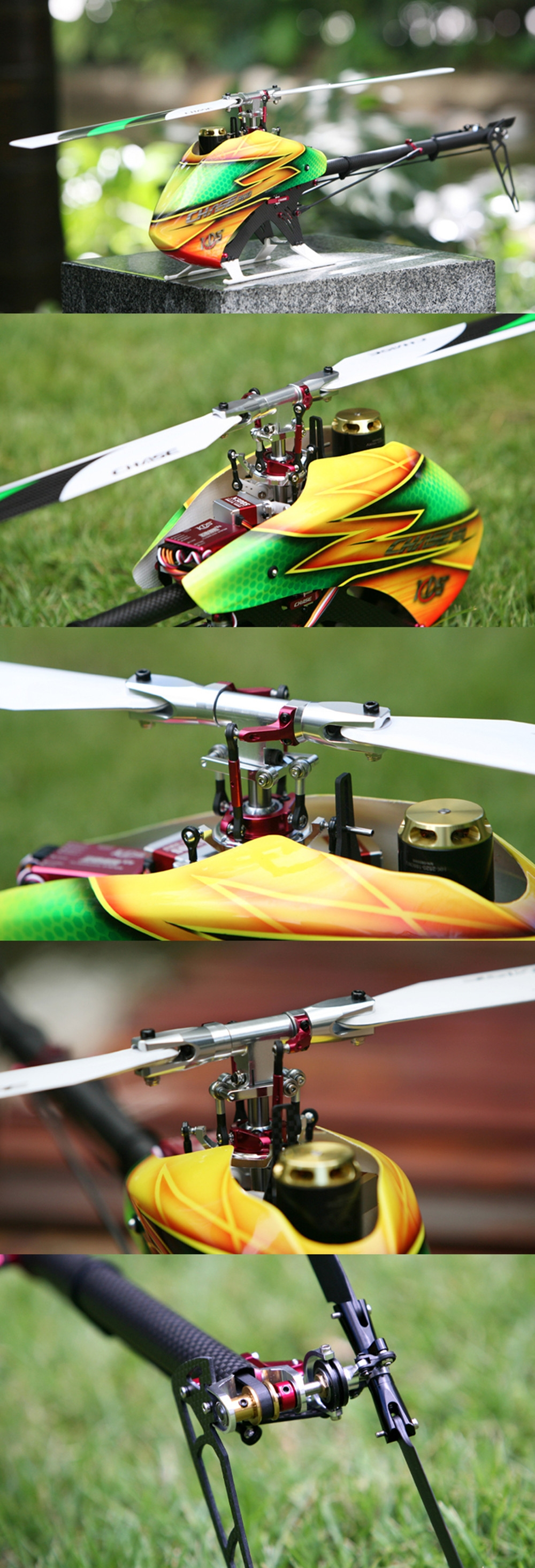 KDS Chase' 360 V2 6CH 3D Flying Flybarless RC Helicopter Kit