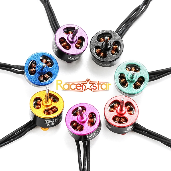 20X Racerstar Racing Edition 0703 BR0703 10000KV 1-2S Brushless Motor Gold For 60 80 100 FPV Frame